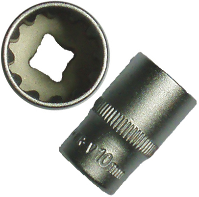 "BATO Hyls kort 1/4"" x 4mm. SplineLock."