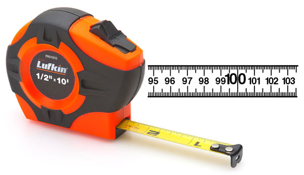 Lufkin 19mm x 5m Hi-Viz Orange P1000 målebånd, metrisk
