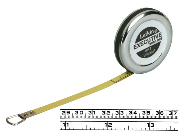 Lufkin 2m x 6mm Executive diameter målebånd, millimeter indeling