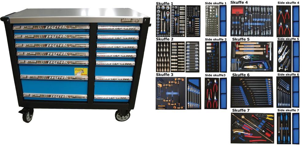 b233d23b4b6 BATO Tools cabinet 14 drawers XXL 506 parts.