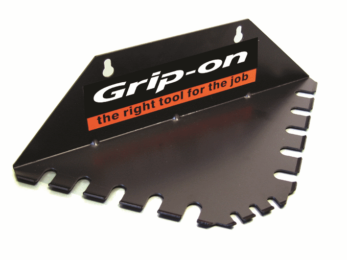 GRIP-ON Butiksdisplay Workshop i metall trekantstativ