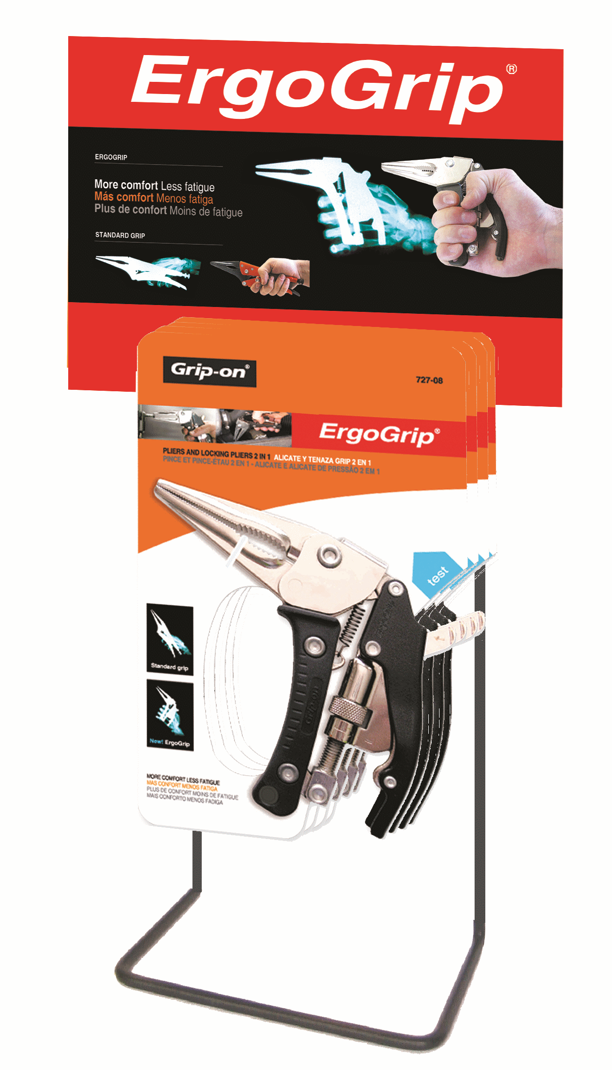 GRIP-ON Butiksdsplay Ergo Grip